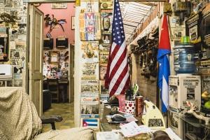 les drapeaux américains sont des plus un plus visibles dans les rues de La Havane